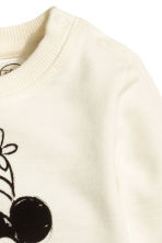 Printed sweatshirt - Natural white/Minnie Mouse -  | H&M CN 2